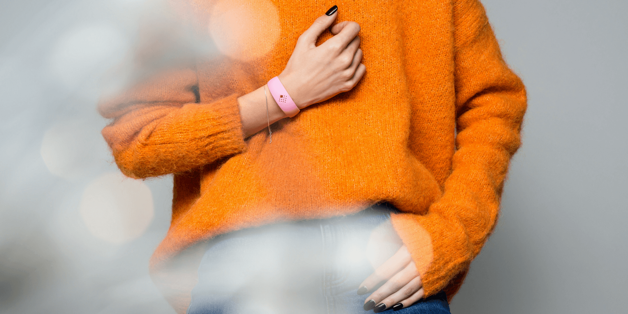 Girl demonstrates AMBRIO bracelet