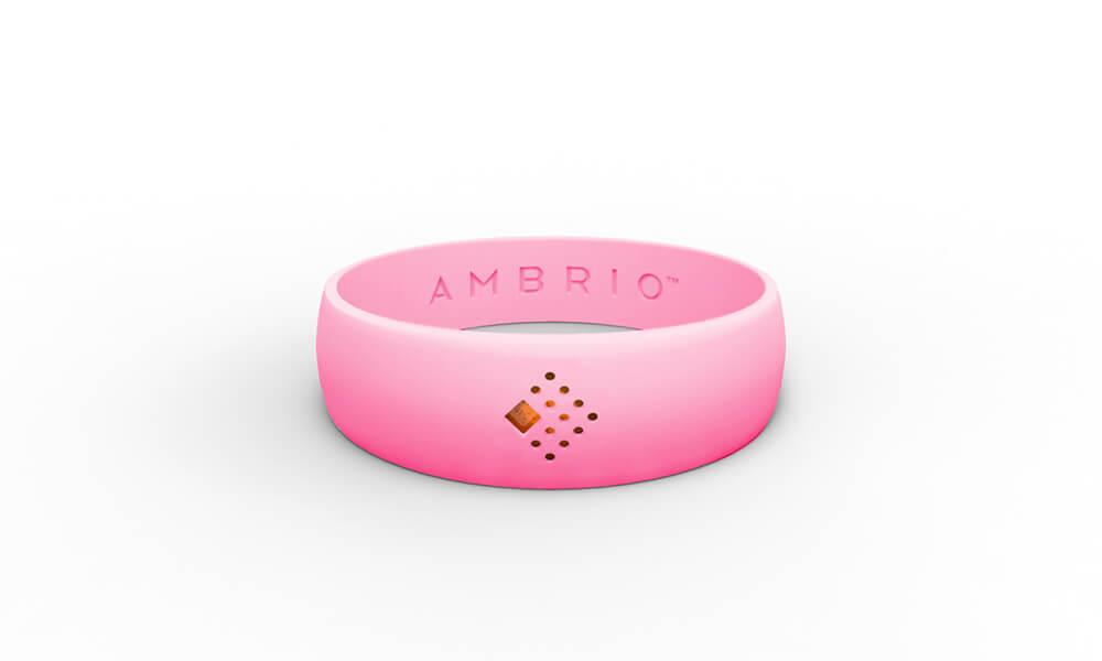 Rožinė AMBRIO apyrankė horizontaliai